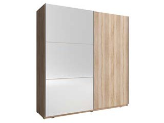 MIKA 150cm - Oak Sonoma- Sliding door wardrobe with mirror