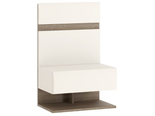 Abbie -Bedside Extension for bed in white with an Truffle Oak Trim