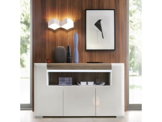 Toronto 3 Door Sideboard with open shelving Size W 1400 x H 845 x D 422mm
