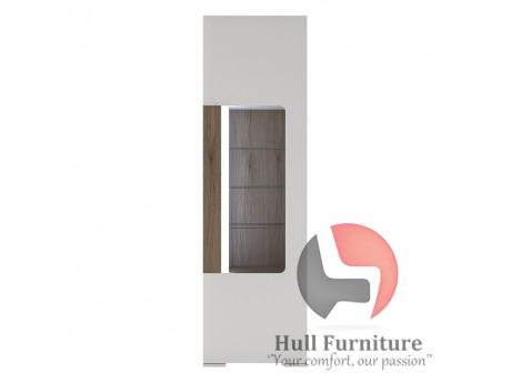 Toronto Tall narrow glazed display cabinet Size W 579 x D 422 x H 1955 mm