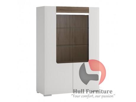 Toronto Low 2 Door cabinet with open shelf Size W 1000 x D 422 x H 1455 mm