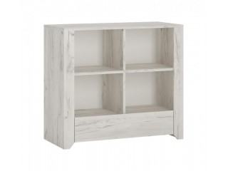 Angel 1 Drawer Low Bookcase Size W 840 x H 765 x D 400 mm