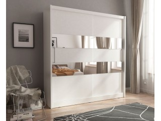 MAJA II 180 cm - White - Sliding door wardrobe with mirror