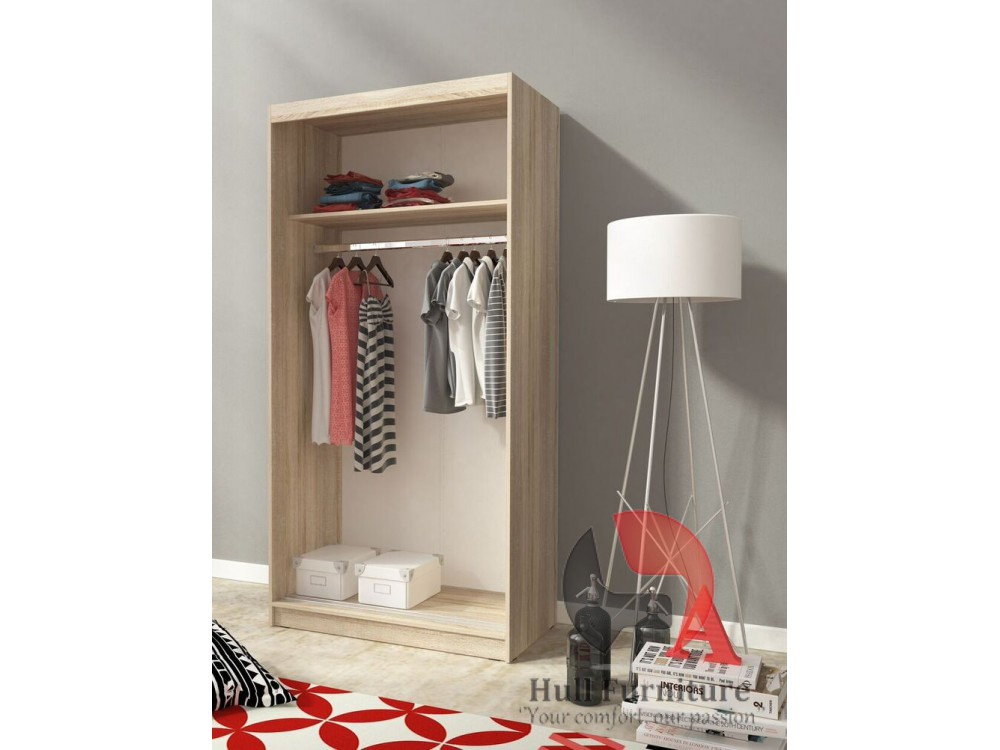alaska 100 cm oak sonoma sliding door wardrobe with