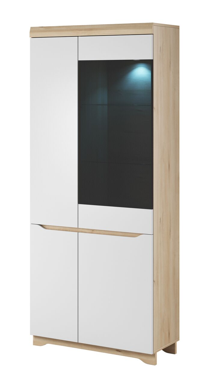 Ava Tall Glazed Display Unit Modular Furniture