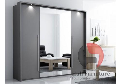 Wardrobe BONITA 209 Lava+Mirror