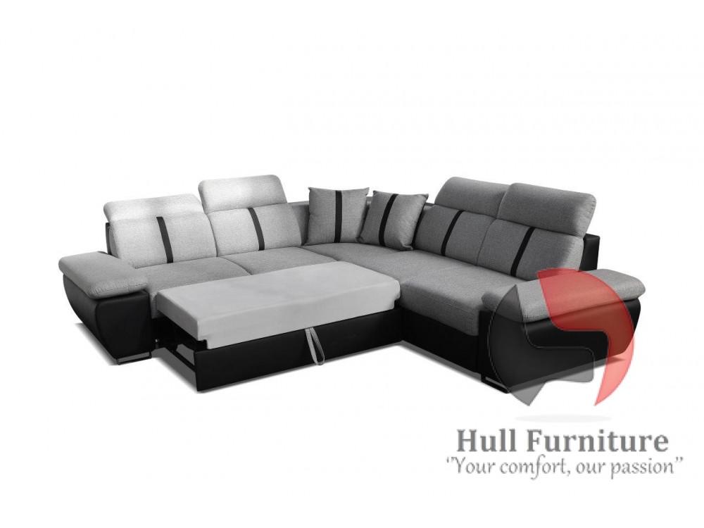 Corner Sofa Bed With Bedding Storage Sleep Function