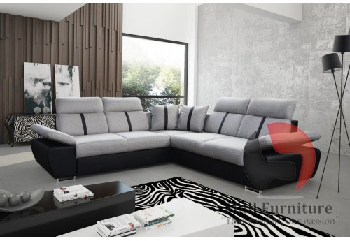 OASIS - comfortable, family size corner sofa bed 260x260cm