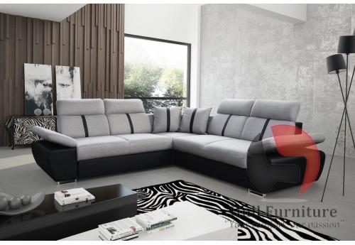 OASIS - comfortable, family size corner sofa bed 260x260cm