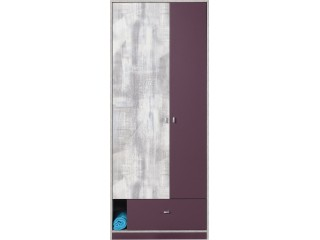 Zip, Wardrobe 2D with drawer, 80cm (Z3)