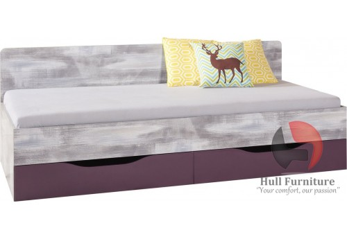 Zip  Bed with 2 drawers, 204x75x94cm (Z12)