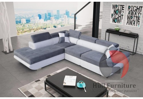 STAR - comfortable, family size corner sofa bed 280x200cm