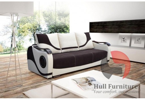 ELISA Sofa bed with bedding storage, sleep function, cushions, hull  furniture, sofas in hull