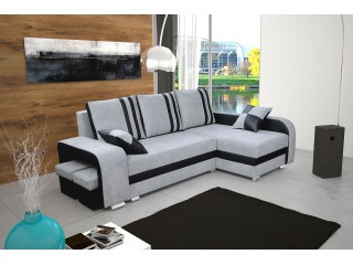 NATHAN  165X245cm - Made to measure Corner Sofa with 2 Square Stools