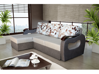 BUENO 165X230cm - Corner Sofa with 2 Square Stools
