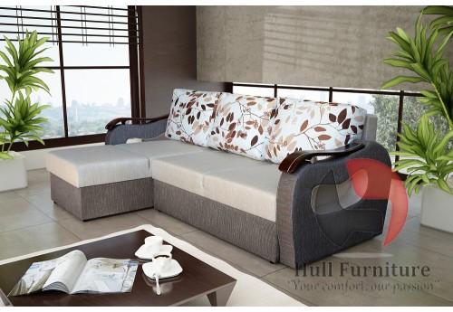 BUENO 165X230cm - Corner Sofa with 2 Square Stools