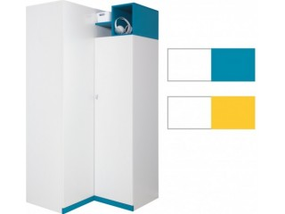Mars - M1 95/195cm, Yellow or Turquoise, Corner wardrobe