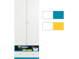 Mars - M2 80/195cm, Yellow or Turquoise, Corner wardrobe