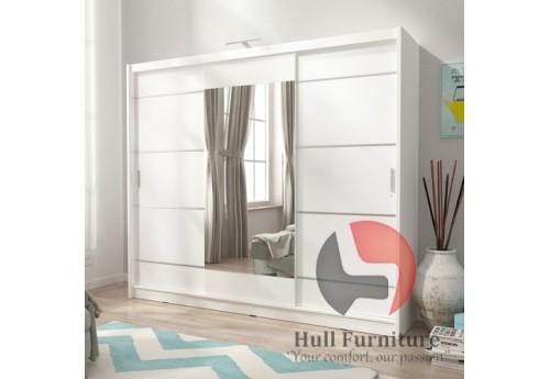 VICTORIA 250cm-White - Sliding door wardrobe with mirror