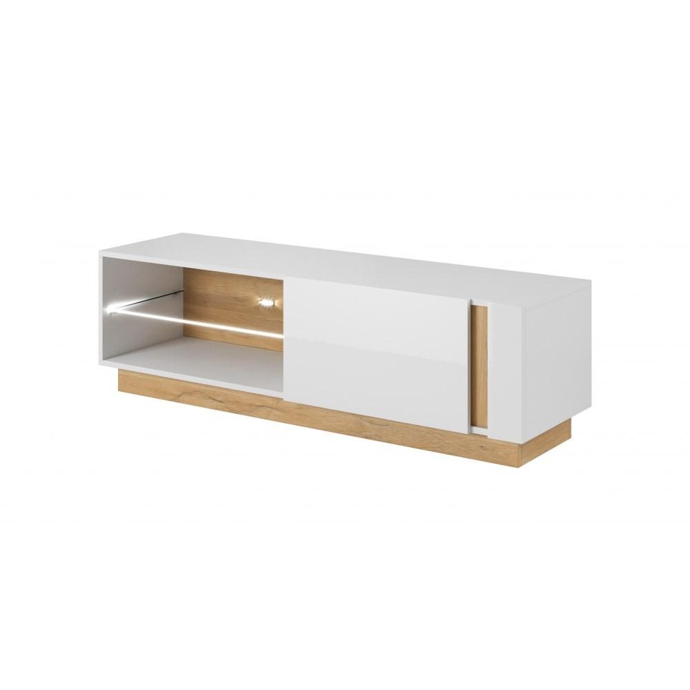 timeless design a922e 576aa Ares, white tv unit cabinet, modern furniture,hull furniture, modular  furniture