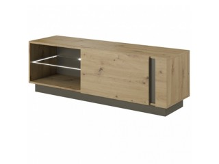 Ares 138 cm - 138.1/45.5/40 cm, TV Unit, Oak + Grey