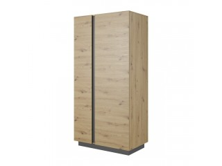 Ares Wardrobe cm - 96.5/193.5/54 cm,  Oak + Grey.