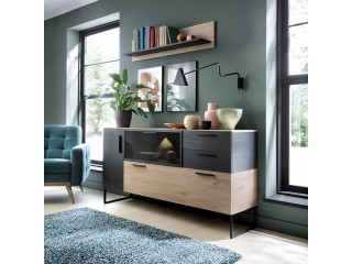 Cordoba Glazed Sideboard - 3 Doors 2 Drawers.  FREE UK DELIVERY W 1670 x H 855 x D 420mm