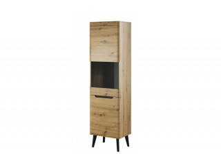 Adele - Display Cabinet - 53 / 197 / 40 cm, artisan oak