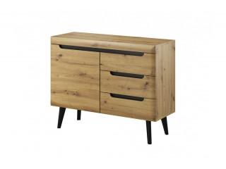 Adele - Sideboard - 107 / 83 / 40 cm, artisan oak + black trim