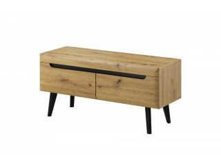 Adele - Tv unit - 107/ 50 / 40 cm, artisan oak + black trim