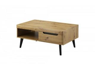 Adele - Coffee Table - 107 / 46 / 67 cm, artisan oak + black trim
