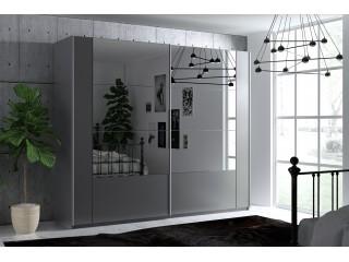 SANTIAGO wardrobe, graphite +  mirror 200cm