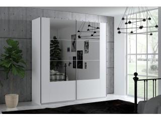SANTIAGO, white + mirror w:200cm h:215cm d:65cm