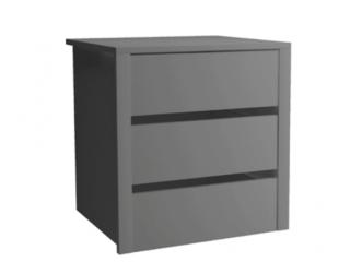 Kontenerek - grafit - 50x53x46cm