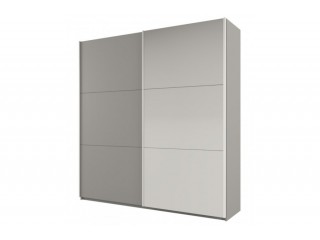 ROSE 225 cm tall wardrobe, platinum-light grey + mirror