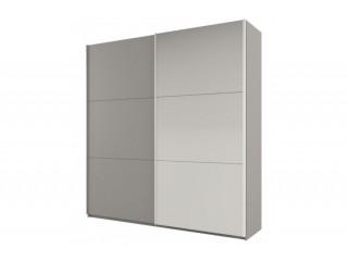 ROSE 225 cm wysoka szafa, platynowy/jasny szary + lustro