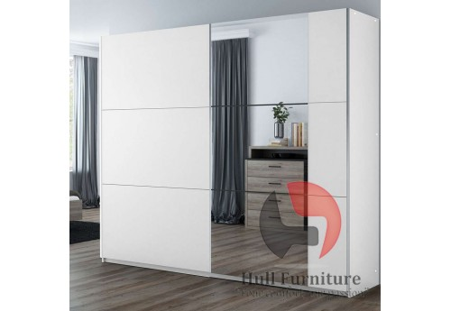 BALIA wardrobe, white +  mirror 200cm