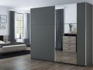 BALIA wardrobe, graphite +  mirror 250cm