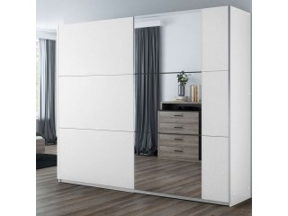 BALIA wardrobe, white +  mirror 250cm
