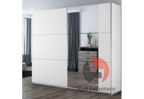 BALIA wardrobe, white +  mirror 250cm
