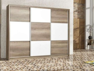 COBA wardrobe 250cm, Oak Canyon + White