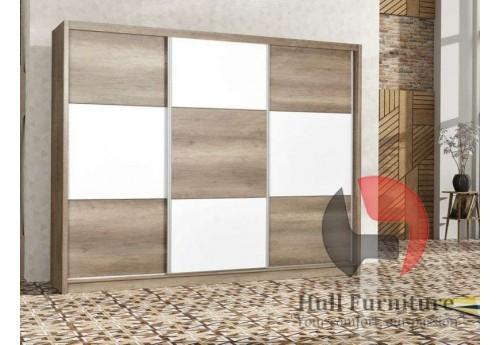 COBA wardrobe 250cm, Oak Canyon / White