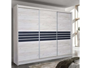 TERMA wardrobe 250cm, craft oak + graphite glass
