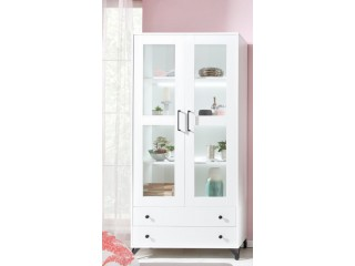 Bear - Tall wide 2 door glazed display cabinet 190 x  40 x 90 cm