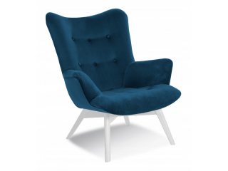 Fotel Uszak - Granatowy