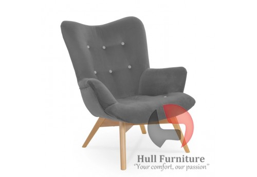 Chair - navy blue, white legs