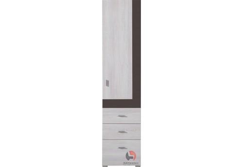 NET - wysoki regal NX4 1-drzwi, 3-szuflady