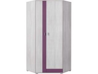 NET - Corner Wardrobe NX2 Purple/white pine