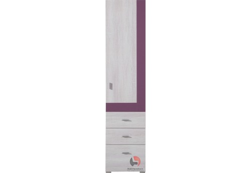 NET - Tall unit NX4 1-door 3-drawers