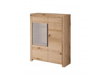 Evo - 2 Door Glazed Cabinet 103 / 130 / 39 cm